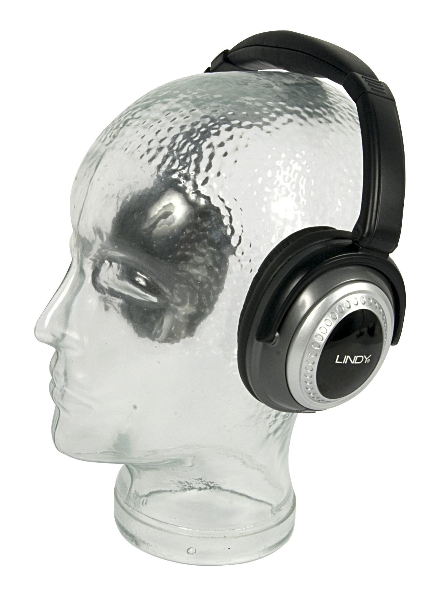 Lindy Cancelling Headphones Black Supraaural headphone