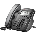 Polycom VVX 301 Skype for Business Wired handset 6lines LCD Black