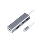 Dynamode C-TC-HUB4CR interface hub USB 3.2 Gen 1 (3.1 Gen 1) Type-C Silver