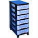 REALUSE REALLY USEFULL TOWER 6X7 LIT DRAWERS BLK