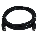 8WARE Cat 6a UTP Ethernet Cable, Snagless - 0.5m (50cm) Black