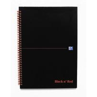 Black n' Red BLK N RED WIRNBK A4 140 PAGES RULED QUAD