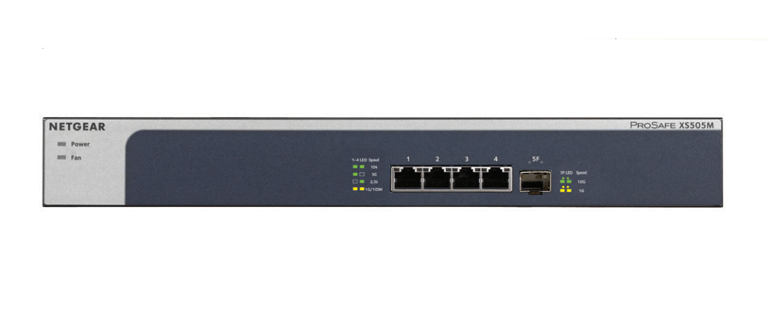 Netgear XS505M No administrado 10G Ethernet (100/1000/10000) Gris, Plata