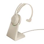 Jabra Evolve2 65, MS Mono Headset Head-band Beige