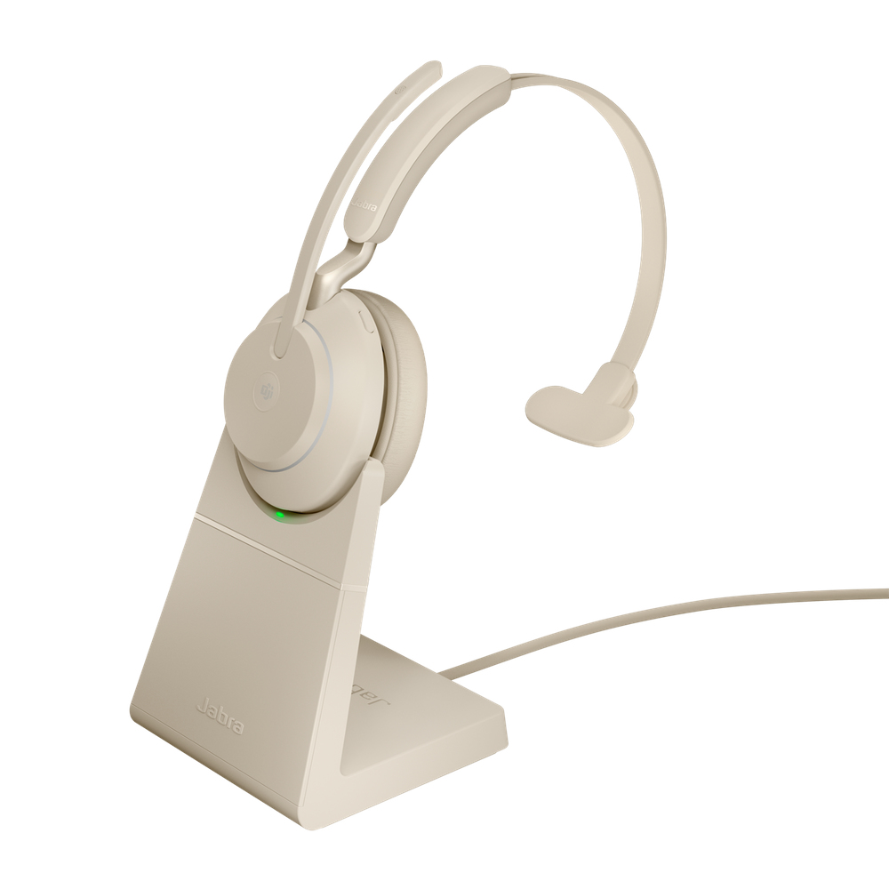 Jabra Evolve2 65, MS Mono Headset Head-band Beige