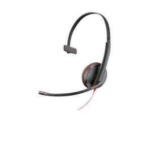 POLY Blackwire 3215 Auriculares Diadema Negro, Rojo