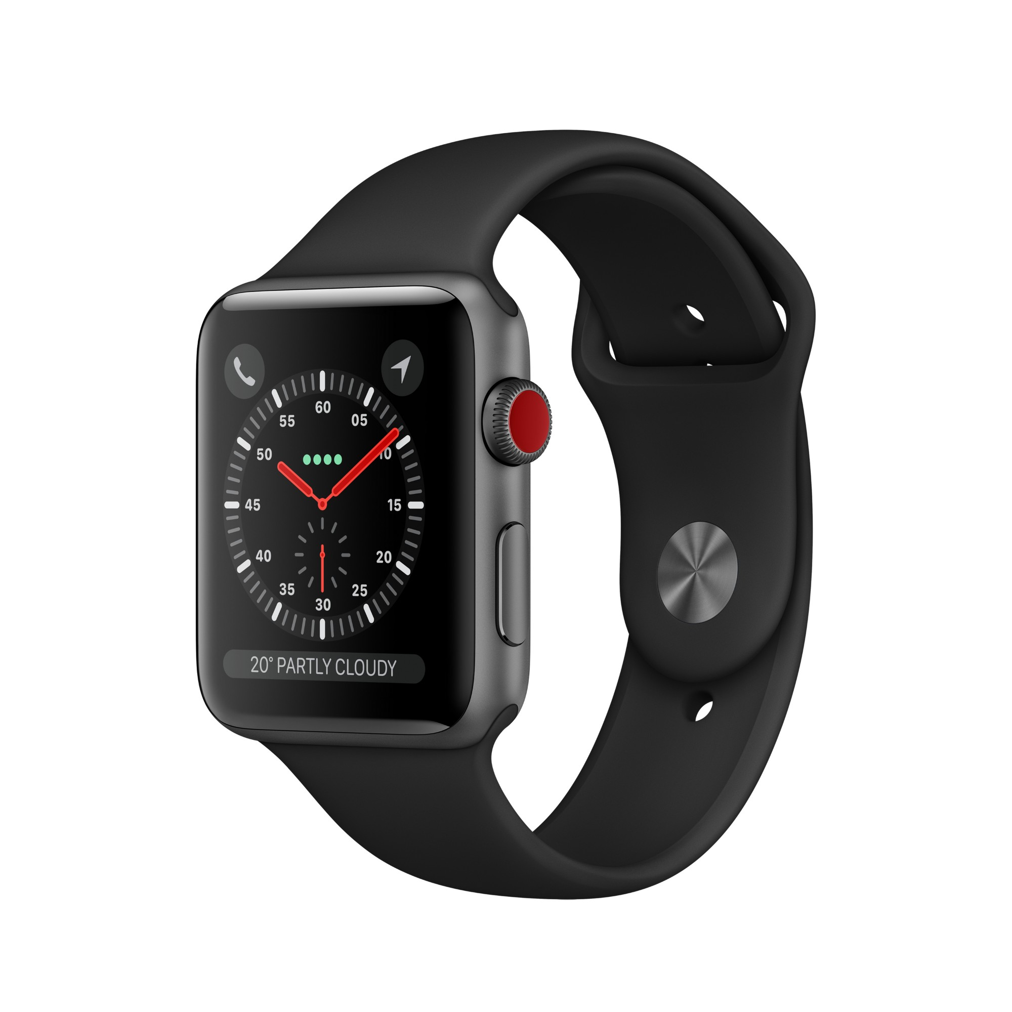 Apple Watch Series 3 smartwatch Grey OLED Cellular GPS (satellite)