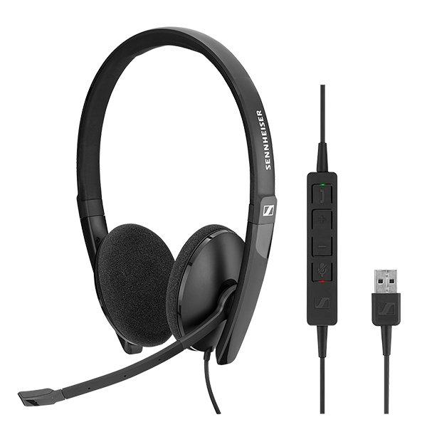 Sennheiser SC 160 - SC 100 series - headset - on-ear - wired - USB - black