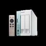 QNAP TS-251A-4G 8TB (Seagate IronWolf HDD) 2 bay NAS; 4GB DDR3L RAM (max 8GB); SATA 6Gb/s; 2 Giga LAN; US