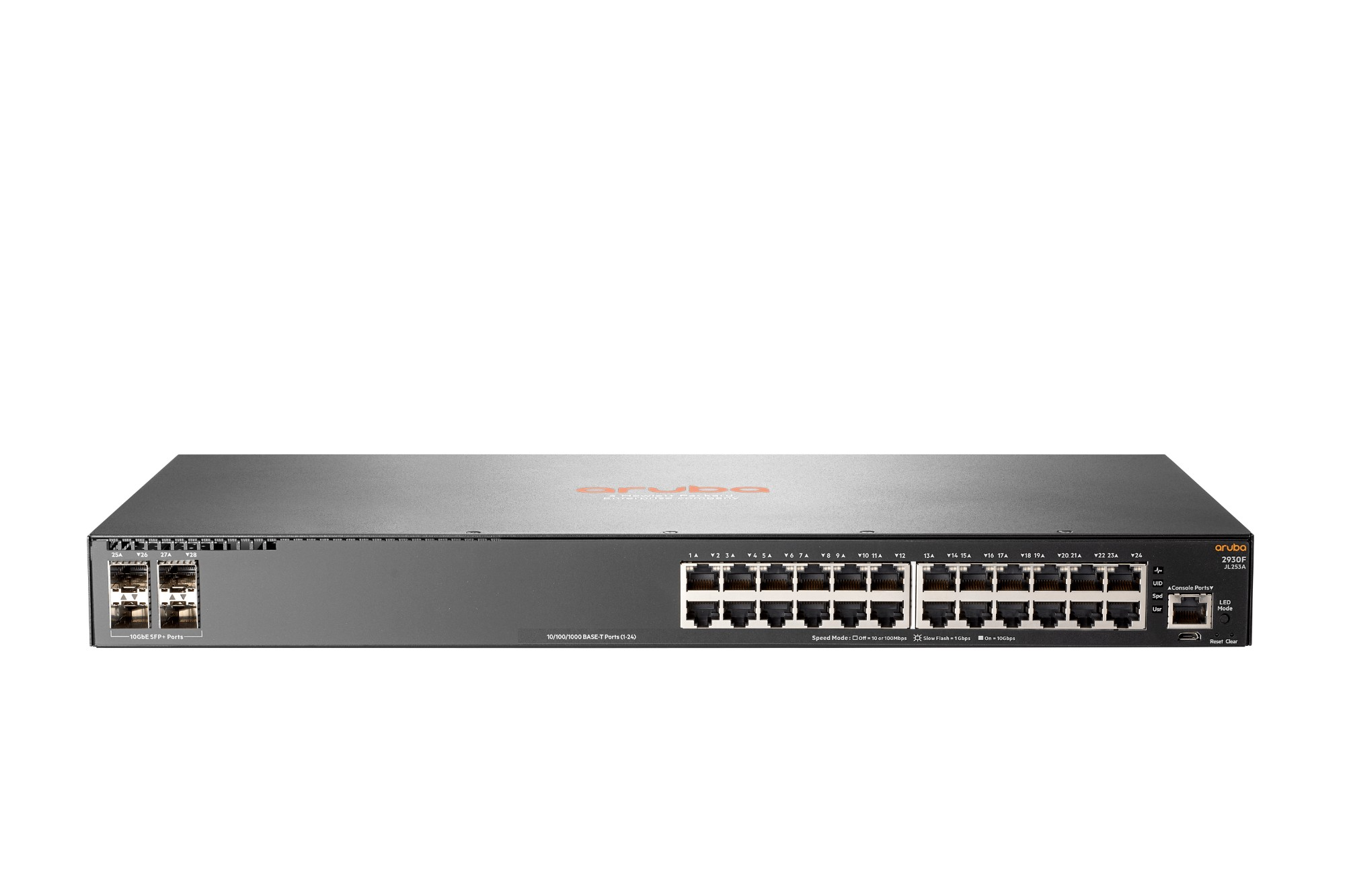 Hewlett Packard Enterprise Aruba 2930F 24G 4SFP+ Managed L3 Gigabit Ethernet (10/100/1000) 1U Grey