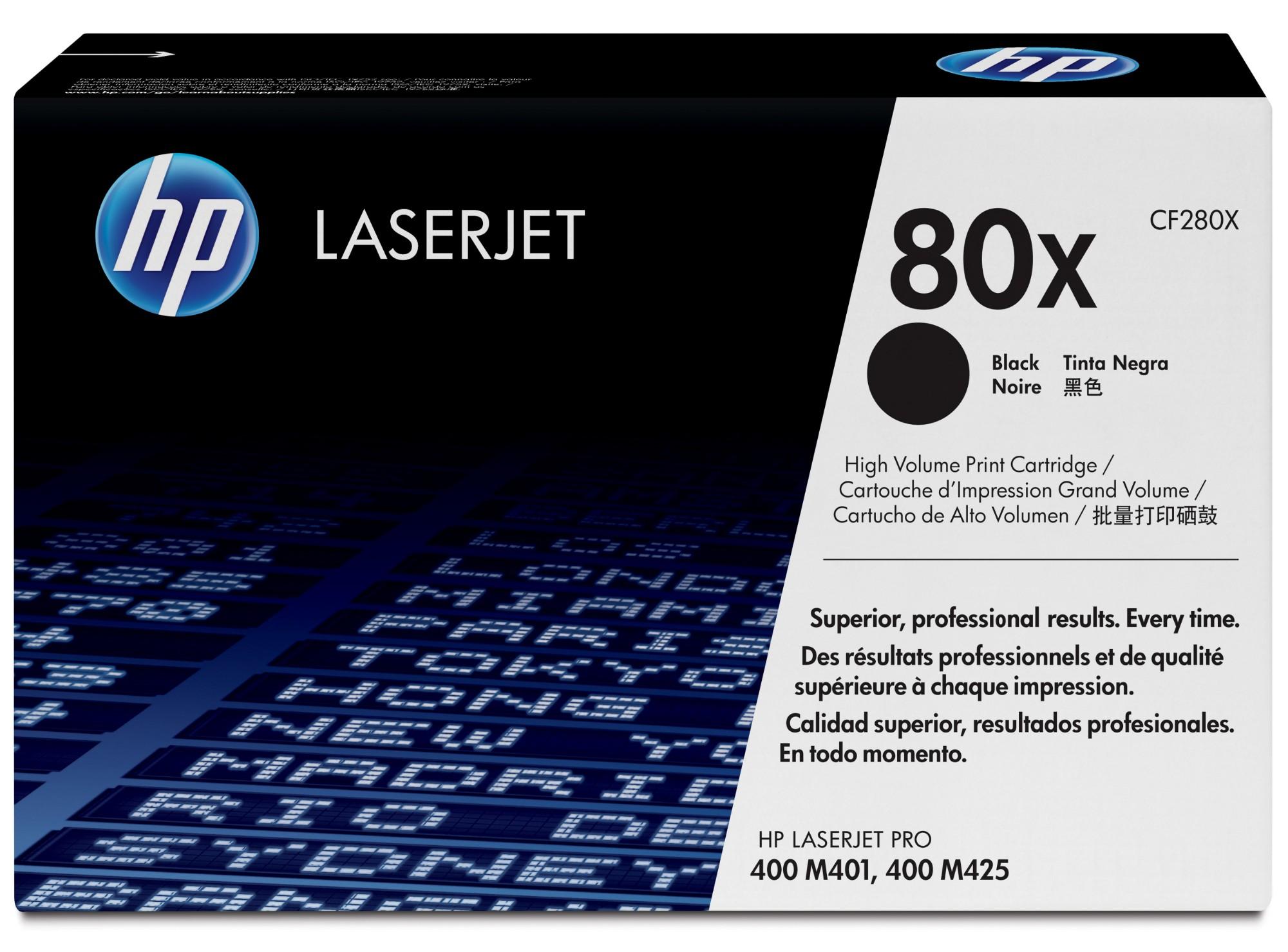 HP 80X Origineel Zwart 1 stuk(s)