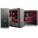 Cooler Master MasterBox MB600L ATX Mid-Tower, Sleek Design with Red Side Trim and Acrylic Side Panel by Cooler Mas