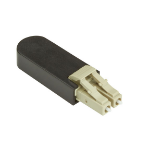Black Box FOLB50M1-LC fiber optic adapter Beige,Black