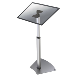 "Newstar FPMA-D1550SILVER flat panel floorstand 81.3 cm (32"") Fixed flat panel floor stand Silver"
