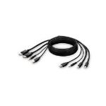 "Belkin F1DN2CCBL-MP-10 KVM cable 118.1"" (3 m) Black"