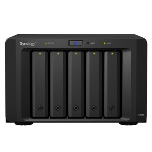 Synology DX517 10TB (Seagate Ironwolf Pro) 5 bay expansion unit for DS1817+/DS1517+/DS1817/DS1517 disk array Desktop Black