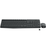 Logitech MK235 keyboard RF Wireless Hungarian Black