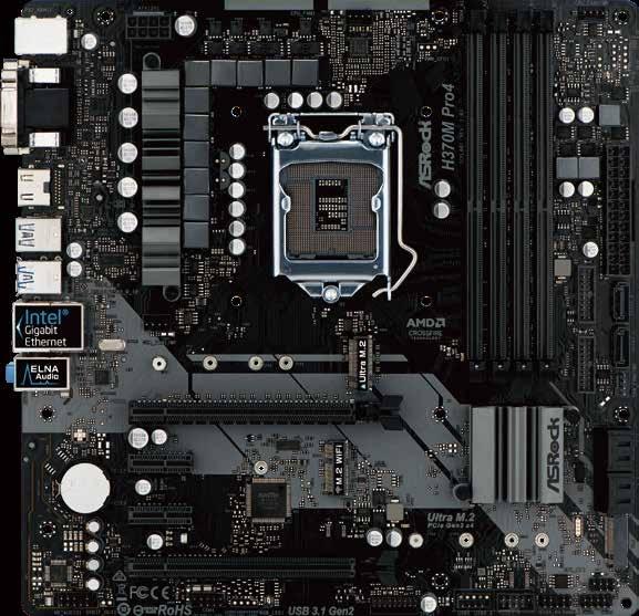 Asrock H370M Pro4 Intel® H370 LGA 1151 (Socket H4) Micro ATX
