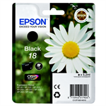 Epson C13T18014010 (18) Ink cartridge black, 175 pages, 5ml