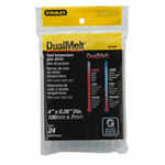 Stanley DUAL MELT GLUE STICKS 4IN PK24