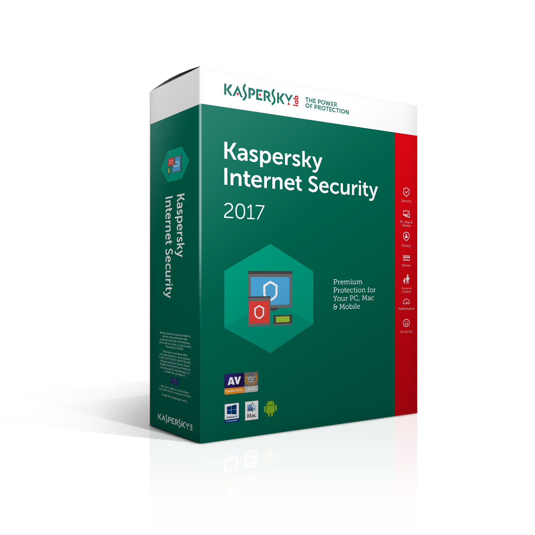 Kaspersky Lab Kaspersky Internet Security 2017 - 10 Devices 1 Year (Standard Packaging)