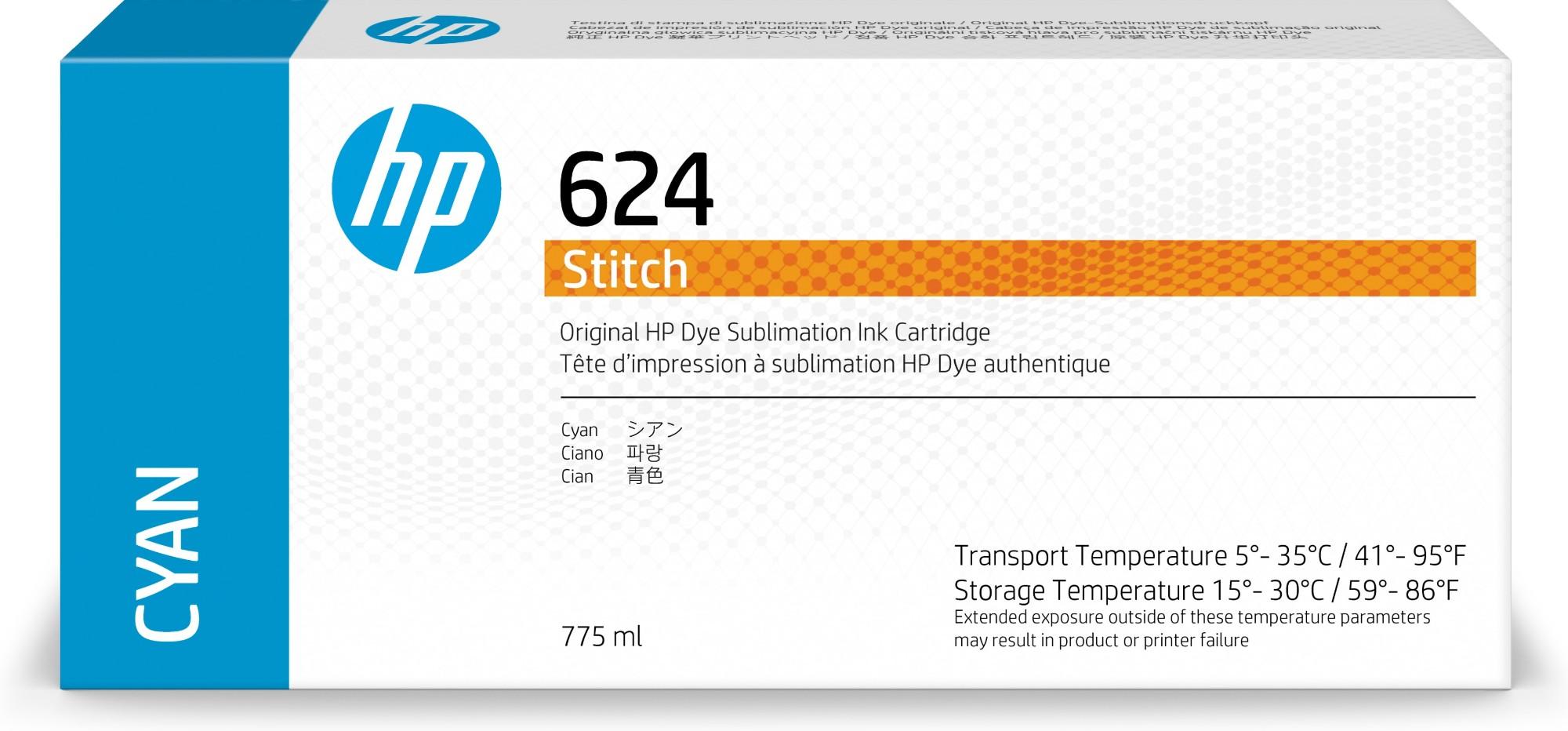 HP 624 Original Cian 1 pieza(s)