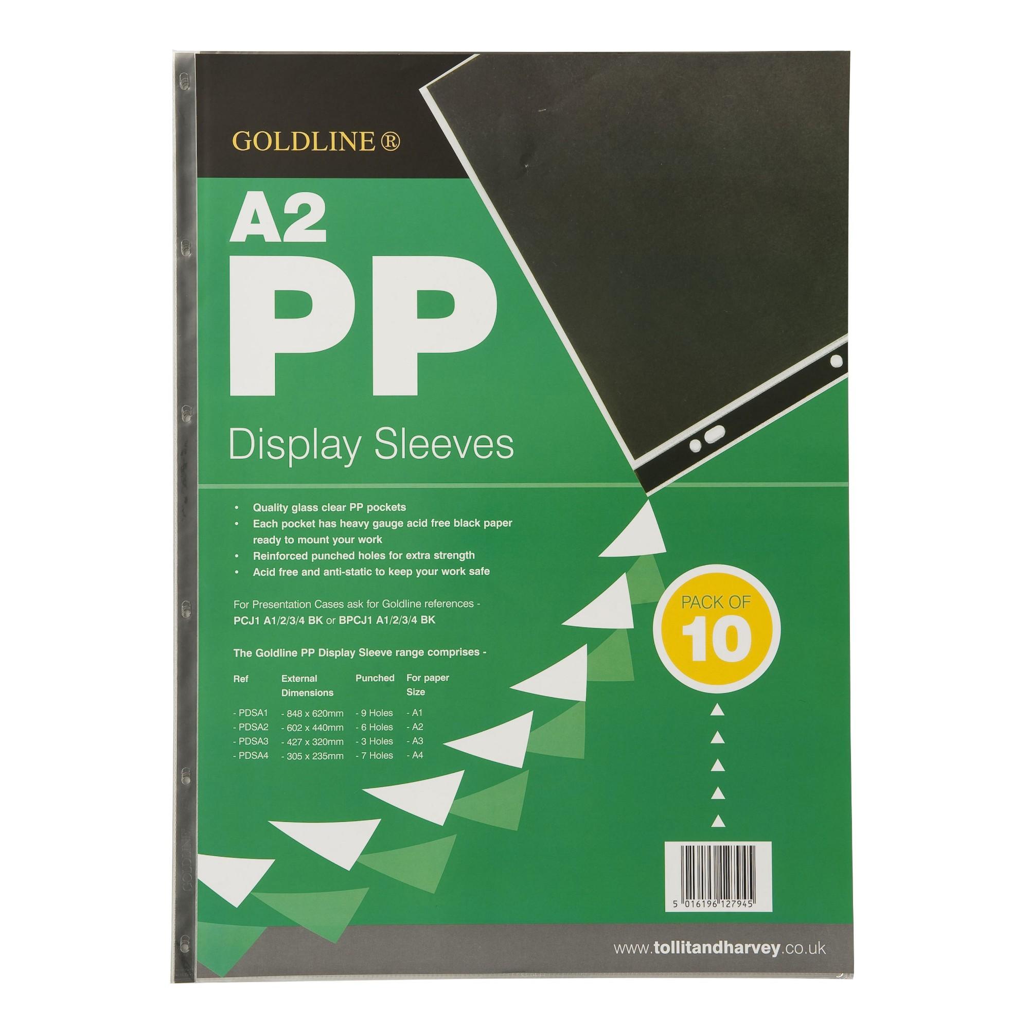 Gold Line Goldline Polyprop Display Sleeves A2 6 Holes PDSA2Z (PK10)