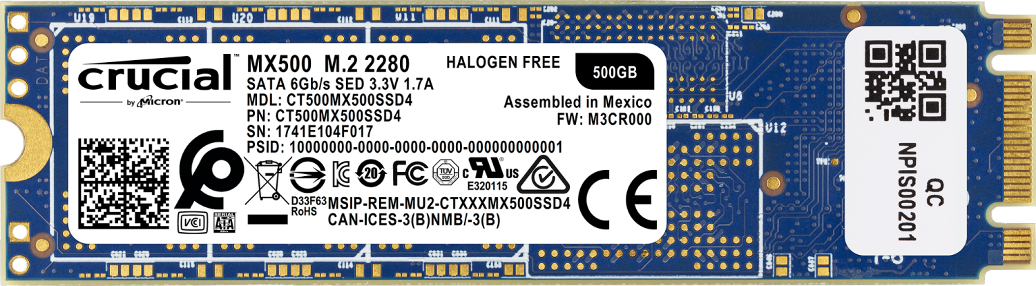 Crucial MX500 internal solid state drive M.2 500 GB