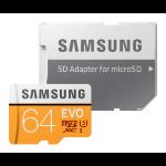 Samsung 64GB, MicroSDXC EVO 64GB MicroSDXC UHS-I Class 10 memory card