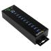 StarTech.com Hub Concentrador Ladrón USB 3.0 de 10 Puertos con Adaptador de Alimentación Externo - con Protección ESD de 350W