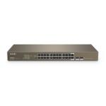Tenda TEG1024F network switch Unmanaged L2 Gigabit Ethernet (10/100/1000) 1U Grey