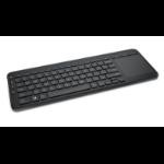 Microsoft All-in-One Media keyboard RF Wireless QWERTY English Black