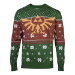 Nintendo Legend of Zelda Golden Royal Hyrule Crest Christmas Knitted Sweater, Male, Small, Multi-colour (KW52