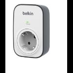 Belkin BSV102vf limitador de tensión 1 salidas AC Negro, Blanco