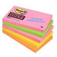 Post-It Super Sticky Notes 76x127mm Capetown Rainbow Ref 655SN [Pack 5]