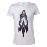 ASSASSIN'S CREED Syndicate Evie Frye T-Shirt, Small, White (TS238508ACS-S)
