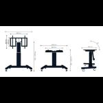 """Newstar PLASMA-M2500TBLACK 100"""" Portable flat panel floor stand Black flat panel floorstand"""