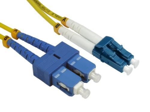 Cables Direct FB2S-LCSC-020Y fibre optic cable 2 m 2x LC 2x SC Yellow