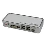 StarTech.com Kit de Switch Conmutador KVM de 2 Puertos DVI con USB Audio y Cables interruptor KVM