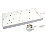 Cables Direct RB-05-6GANGSWD surge protector 6 AC outlet(s) White 5 m