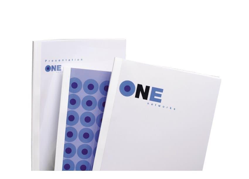 GBC STANDARD THERMAL BINDING COVERS 8MM WHITE (100)