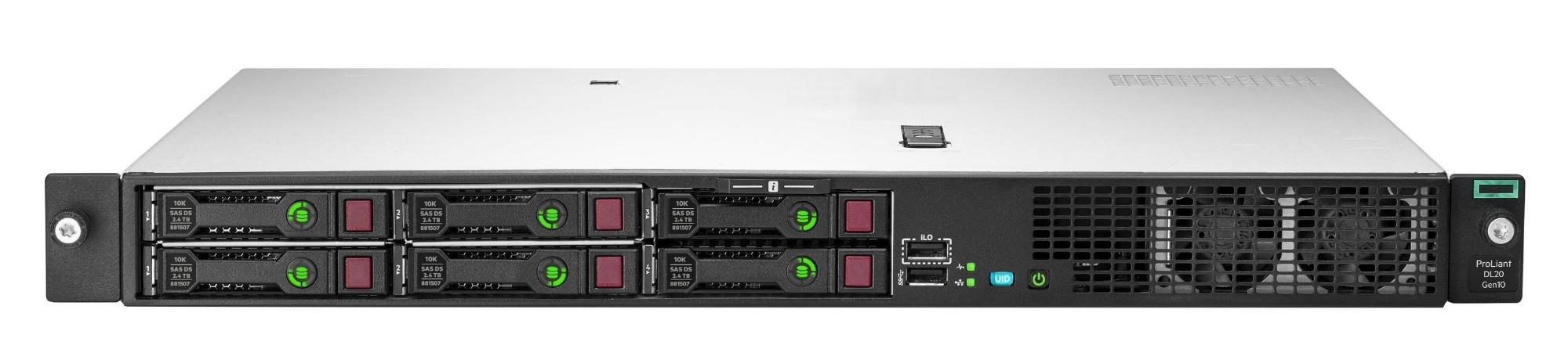 Hewlett Packard Enterprise ProLiant DL20 Gen10 server 12 TB 3.4 GHz 16 GB Rack (1U) Intel Xeon E 500 W DDR4-SDRAM