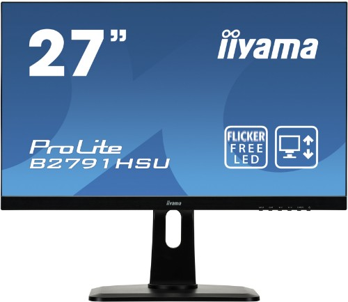 "iiyama ProLite B2791HSU-B1/27"" TN 1MS 27"" Full HD LED Matt Black computer monitor"