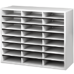 Fellowes 25041 literature rack 24 shelves Grey, White