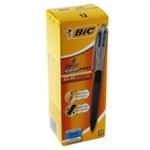 BIC 4 Colours Grip PRO Black,Blue,Green,Red Clip-on retractable ballpoint pen Medium 12 pc(s)