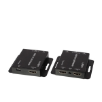 Lindy 38144 AV extender AV transmitter & receiver Black