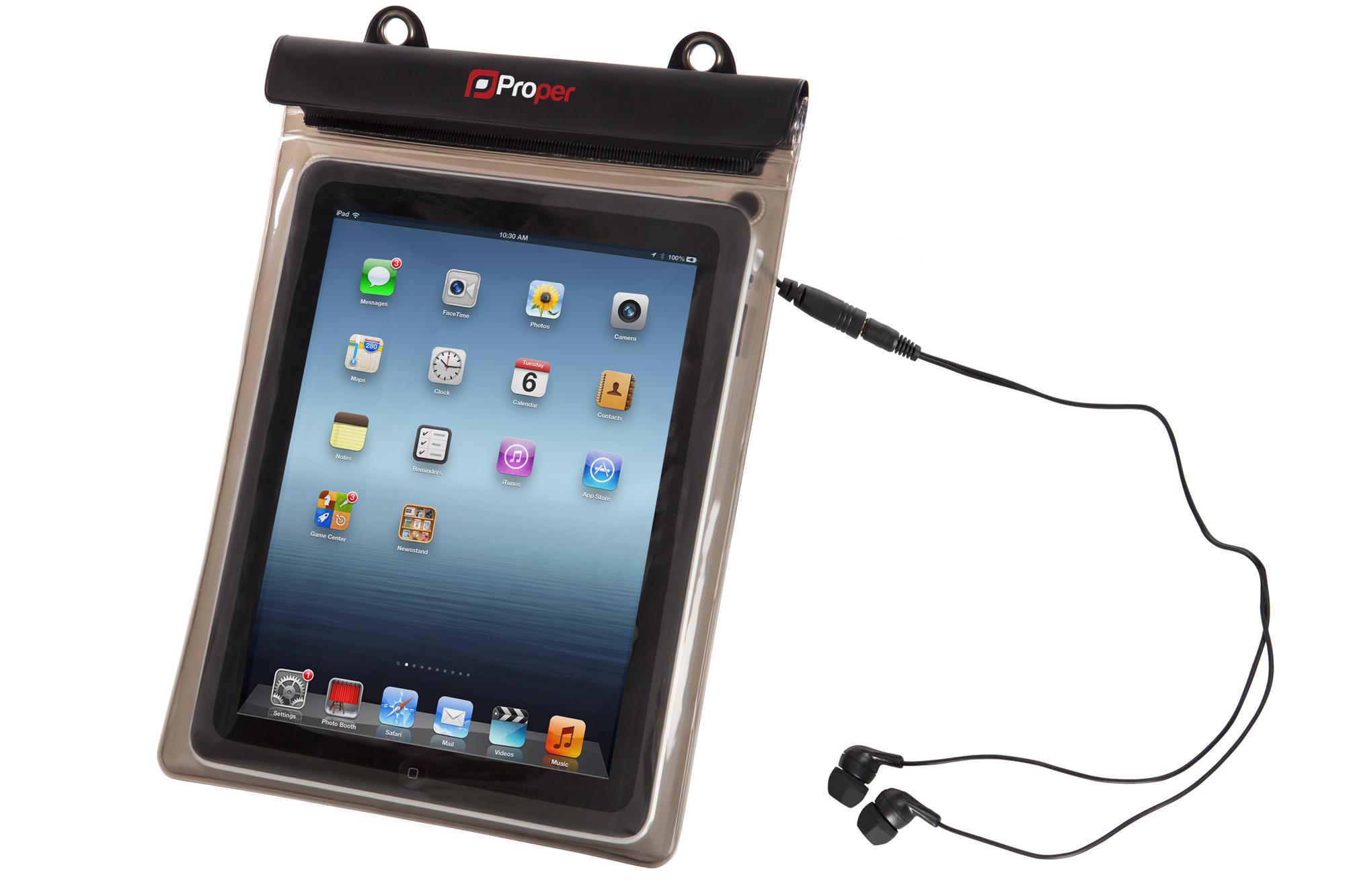 PROPERAV Proper Waterproof Case for 10 inch Tablets inc Waterproof Earphones