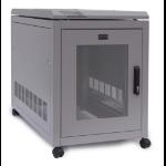 Prism Enclosures 18U Floor Stand Cab 600 x 1000 Freestanding rack Grey
