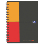 Elba 100103165 A5 80sheets Grey,Orange,Red writing notebook