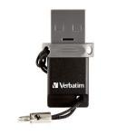 Verbatim Dual Drive OTG/USB 2.0 64GB 64GB USB 2.0 Type-A Black,Silver USB flash drive